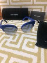 DOLCE & GABBANA Sequin 6109 Blue Gradient Cat Eye Fashion Sunglasses DG6109 - $136.51