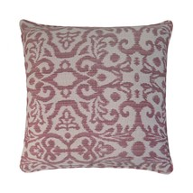 "Woven Damask Jacquard Red Cream 17"" - 43CM Cushion Cover - $15.61"