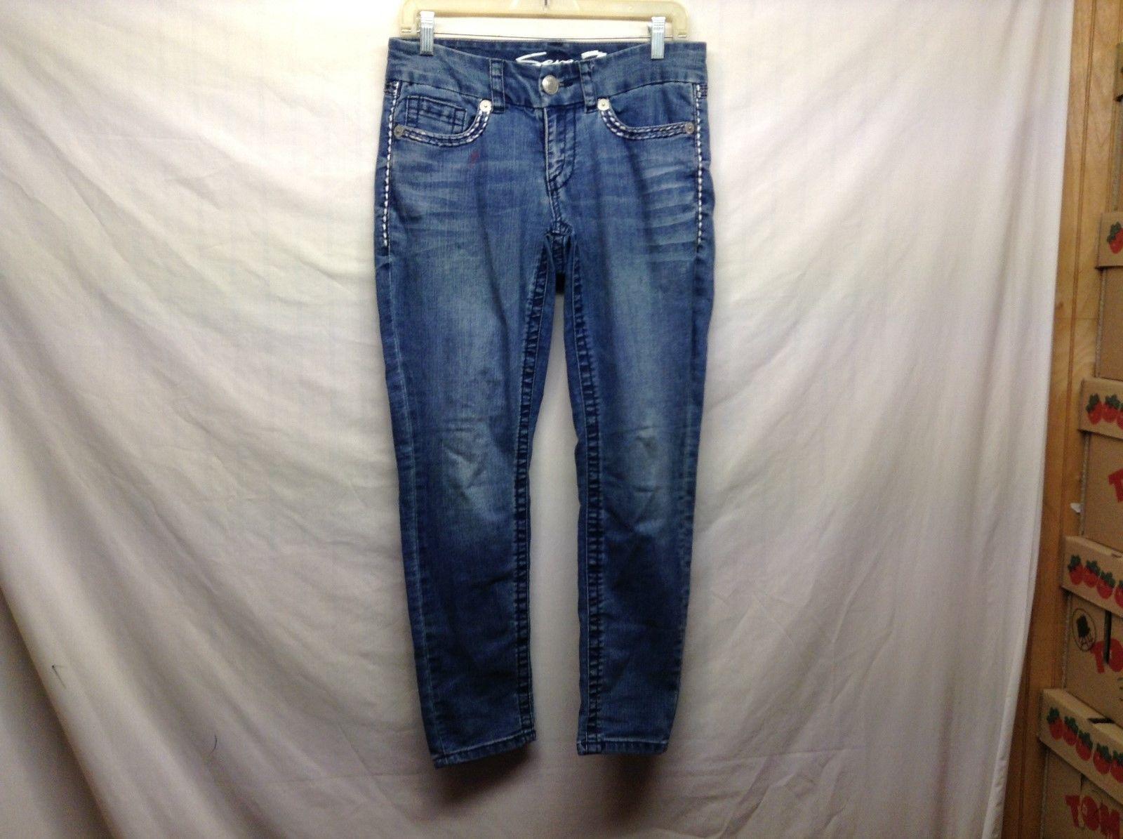 Ladies Seven 7 Blue Skinny Jeans Sz 6