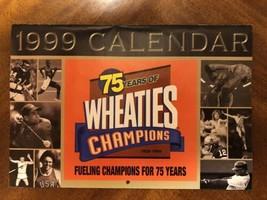 Wheaties 75 Years of Champions 1999 Calendar plus Wheaties Box Vote Poster - $4.95
