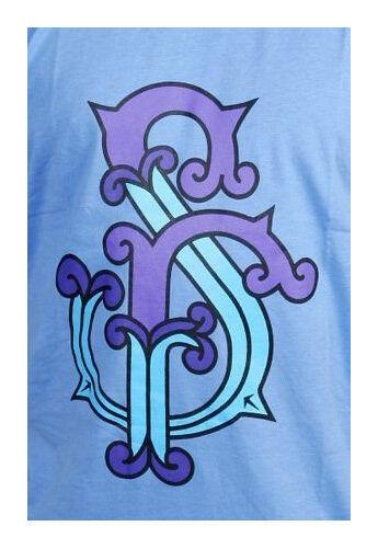 Official Herren Blau Wasser Gut Gone Mad T-Shirt Street Sammlung Sr
