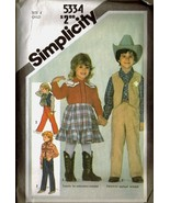 Vintage 1981 Simplicity #5334 Child's Western C... - $9.99