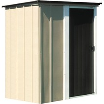 Storage Shed Steel 5 x 4 Feet Rust Corrosion Resistant Galvanized Tan Fi... - $224.57