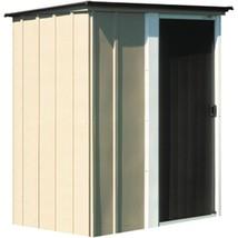 Storage Shed Steel 5 x 4 Feet Rust Corrosion Resistant Galvanized Tan Fi... - $224.57