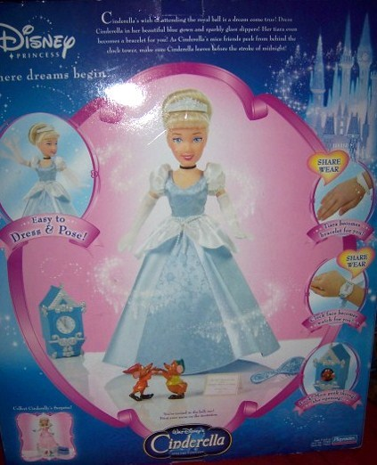 "Cinderella Dressed for the Ball Doll NEW 14"" Bonus CD"