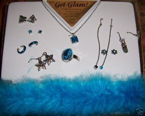 Get Glam Girls Jewelry Set Blue Lead Free Earrings +
