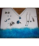 Get Glam Girls Jewelry Set Blue Lead Free Earrings + - $10.00