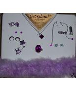 Cute Girls Purple Jewelry Set NEW Necklace Earrings Ring Bracelet Glam Set - $10.00