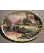 LAMPLIGHT FARM collector plate THOMAS KINKADE Lamplight Village BARN - $19.99