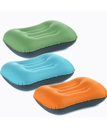 Neck Rest Inflatable Travel Pillow Portable Cushion Air Ultralight Head ... - $17.79