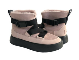 UGG CLASSIC BOOM BUCKLE PINK CRYSTAL ANKLE SNEAKER SHOE US 7 / EU 38 / UK 5 - $120.62