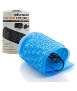 Roll-up Portable Flexible USB Keyboard - Blue - Waterproof - $11.88