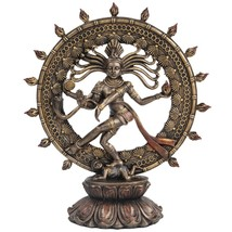 Hindu Shiva Nataraja Dancing Statue Bronze Finished - $38.99