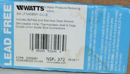 Watts Water Pressure Reducing Valve 0009481 3/4 Inch Connection image 6