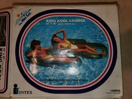 Vintage Pool Lounge Floaty  Intex  raft  new 1984  King kool wet set swi... - $49.00