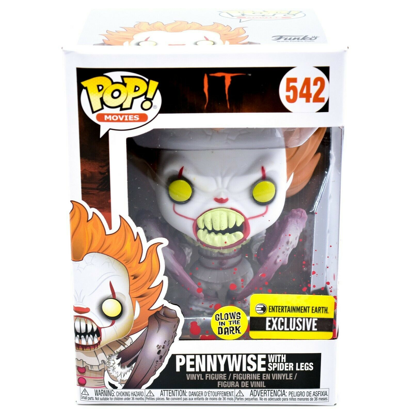 Funko Pop! IT Pennyswise Spider Legs 542 Entertainment Earth Exclusive Figure