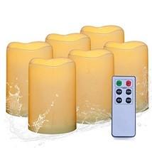 Battery Pillar Candles Waterproof Flameless 6 Pack Indoor Outdoor LED Ca... - €29,22 EUR