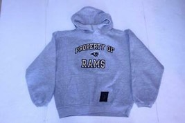 Youth Los Angeles Rams M (10/12) Hoodie Hooded Sweatshirt (Grey) Reebok - $14.01