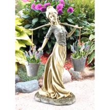 Magdalene the Danish Milkmaid Garden Woman Statue - $164.26