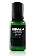 Brickell Men's Daily Strengthening Shampoo for Men – 2 oz – Natural & Organic