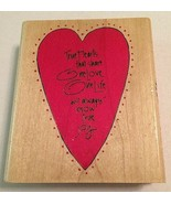 "True Hearts That Shares One Love Wooden Rubber Stamp Inkadinkado NEW 4""X... - $8.18"