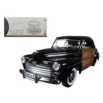 1946 Ford Sportsman Woody Black 1/18 Diecast Model Car by Road Signature 20048bl - $107.09