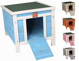 ROCKEVER Cat Shelter Outside for Feral Cats, Wooden Small Animal House a... - $71.03