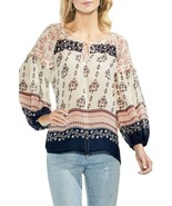 Vince Camuto Wildflower Print Peasant Blouse Top Size Large - $99 - NWT - $39.19