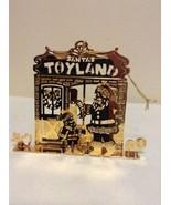 "Danbury Mint - 1989 Gold Christmas Ornament -  ""Santa's Toyland"" (A11) - $15.95"