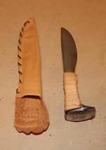 1890's Railroad Spike Miners Knife Hand Forged Hand Ground Sanded Polish... - $54.99