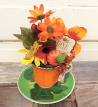 AG Designs Fall Harvest Decor - Give Thanks Floral Tea Cup #520/04 - $14.80