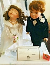 Lot Of 2 Porcelain Dolls by Traditions Doll Collection Pam & Robert Wedding - $110.88