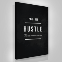 "Hustle Entrepreneur Canvas Print Office Wall Decor Modern Art 48"" x 36"" Inches image 1"