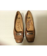 Sofft Womens Sz 8 m Leather Heels Brown Shoes with Flap & Buckle on Toe - $20.30