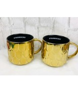 Starbucks 2019 Gold Mermaid Siren Scales Coffee Mug Cups Set Of 2 New  - $37.40