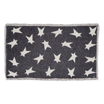 BLACK PRIMITIVE STAR Placemats - Set of 6 - Nightstand Topper - VHC Brands