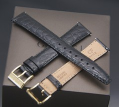New Gucci 17 MM Black Genuine Leather - Alligator Pattern - Band - 17.105 Large - $29.95+