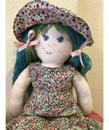 """Handmade Cloth Rag Doll Soft Cuddly Handcrafted 18"""" Doll - $39.95"""