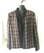 Lane Bryant Red and Black Plaid Holiday Blazer Jacket Sz 18 XL NWT NEW - $129.99