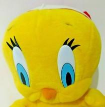 Vintage Looney Tunes Tweety Bird Plush Toy Christmas Red Santa Hat Yello... - $28.04