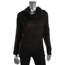 Bar III Women's Long Sleeve Cowl-Neck Knit Top XS X-Small Deep Black $59 - $18.78