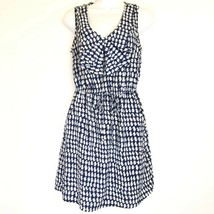 BeBop Blue White Printed Scoop Neck Stretch Waist Sleeveless Dress Size M - $15.83