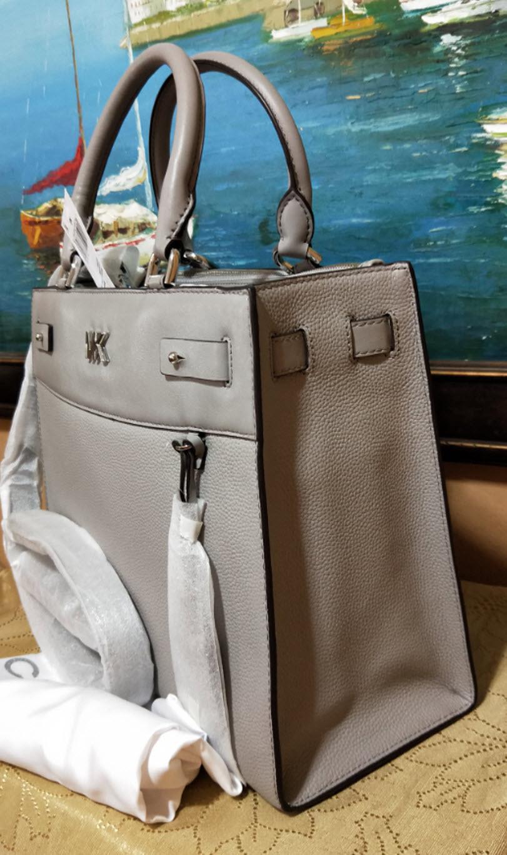 4fb329b4d054 Michael kors Reagan Large Gray Leather and 50 similar items