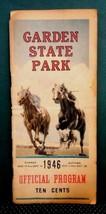1946 vintage ORIGINAL GARDEN STATE PARK HORSE RACING PROGRAM nj,book,photos - $224.95
