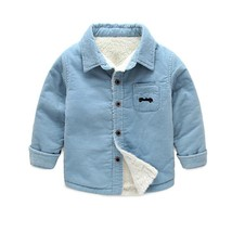 baby boys winter warm jacket kids Plus velvet thickening warm clothes boy - $23.21 CAD+