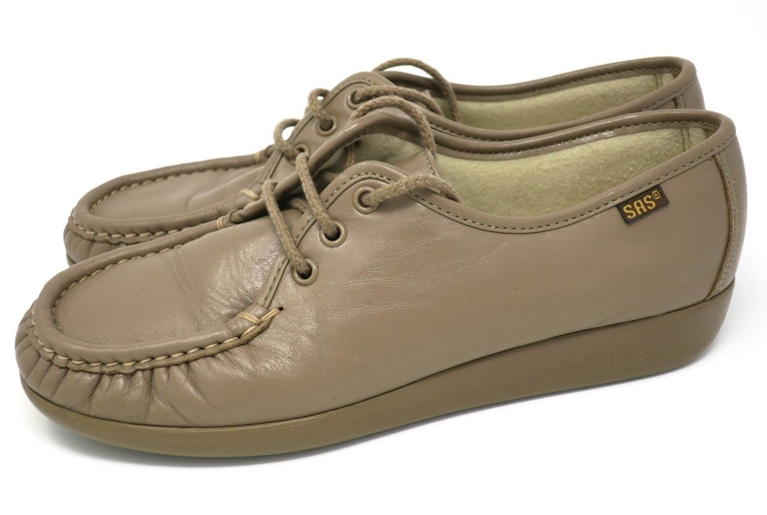 3fef78c82a 57. 57. SAS Siesta Mocha Comfort Lace Up Orthopedic Moccasin Walking Shoes  Women's 7.5M · SAS Siesta Mocha Comfort Lace Up ...