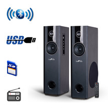 beFree Sound 2.1 Channel BluetoothPowered Black Tower Speakers With Opti... - $169.80 CAD