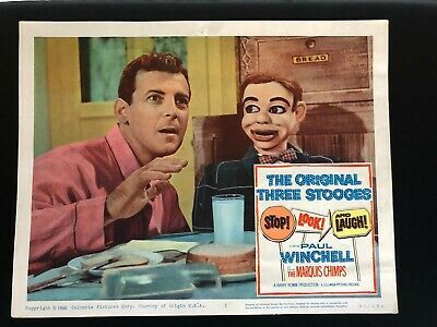 Jerry Mahoney Paul Winchell Stop Look & Laugh Lobby Card 1960 Voice of Tigger