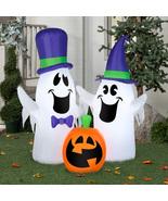 Halloween Yard Decor Ghost Pumpkin Airblown Inflatable Outdoor Decoratio... - $48.88