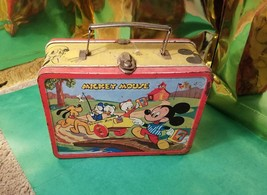 1954 Walt Disney Vintage Mickey Mouse & Donald Duck Double sided Lunch B... - $111.38